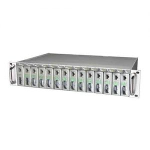 Ethernet media converter rack