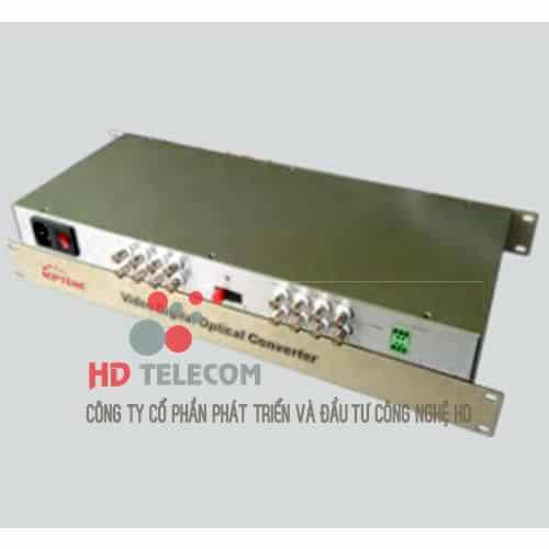 16Ch Video Convertor Fiber