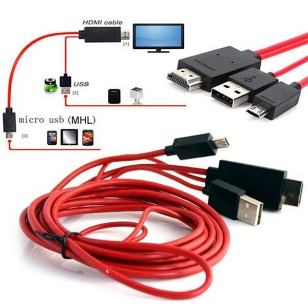cáp chuyển tín hiệu từ điện thoại sang tivi 1 Cáp chuyển tín hiệu từ điện thoại sang tivi MHL